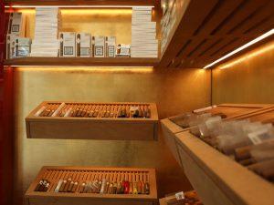 Veredelte Wände im Tabakhaus